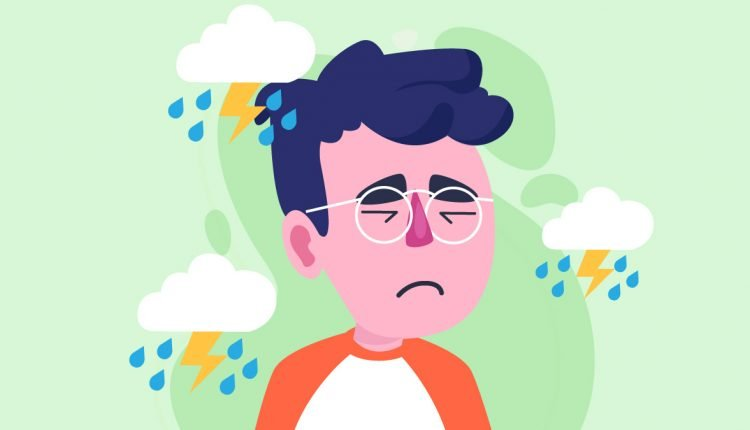 Person with Anxiety Illustration