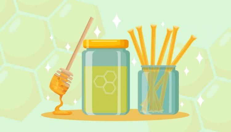 CBD Honey Sticks Illustration