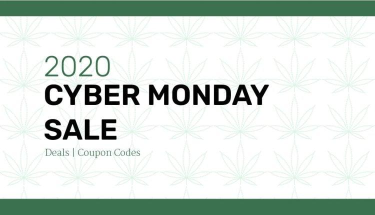 2020 weednews best cbd cyber monday sale banner on decorative background