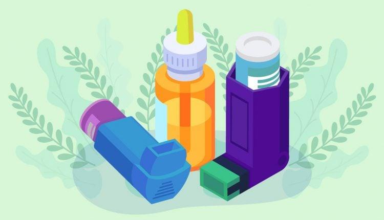 Nebulizer and CBD Oil Illustration