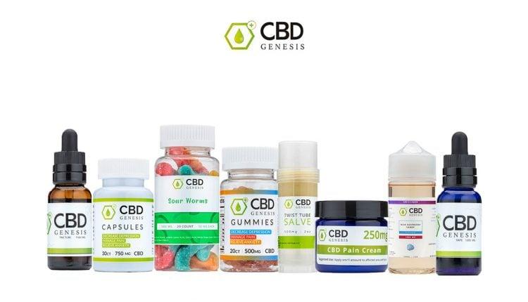 Genesis CBD Products on white background