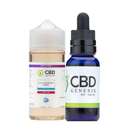 Genesis CBD Vape Products on white background