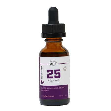 Receptra Naturals Full Spectrum Hemp Extract for pets on white background