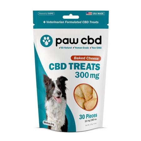cbdMD dog treat on white background