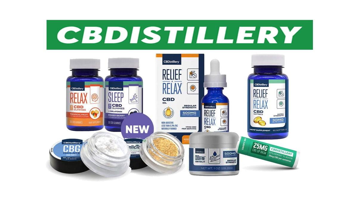 CBDistillery Products on white background