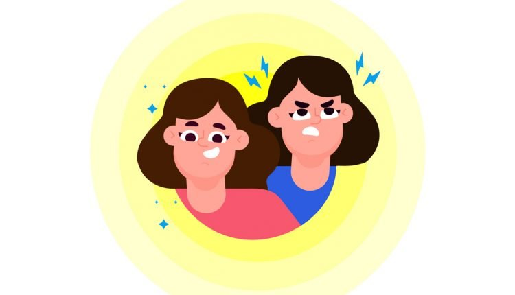 Illustration of Person with Bipolar Disorder