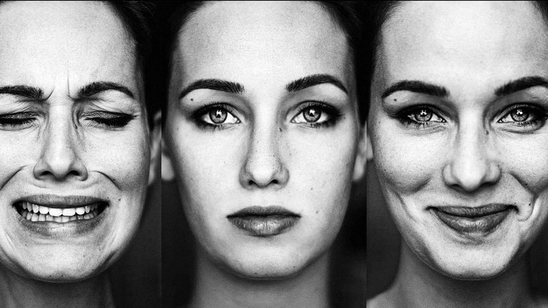 Faces of a Woman with Bipolar Disorder